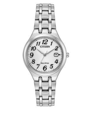 Citizen Eco-drive Polished Stainless Steel Link Bracelet Watch