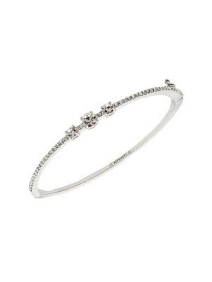 Givenchy Rhodium-plated And Crystal Pave Bangle Bracelet