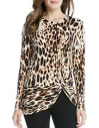 Karen Kane Roundneck Long Sleeve Twisted Top