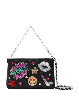 Tua Sequin Patch Clutch