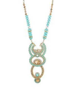 Lucky Brand Cowgirl California Multi-stone Statement Necklace
