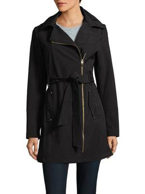 Via Spiga Asymmetrical Zip Trench Coat
