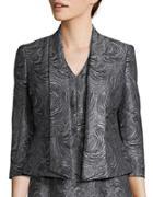 Nipon Boutique Open Front Swirl Textured Jacket