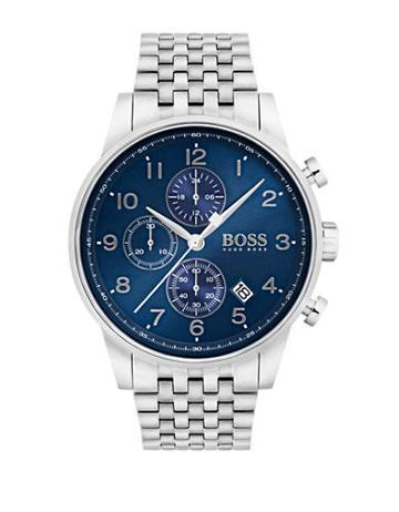 Hugo Boss Navigator Stainless Steel Chronograph Bracelet Watch