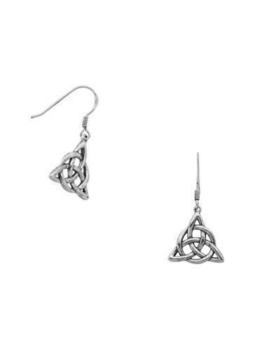 Lord & Taylor Sterling Silver Celtic Knot Dangle Earrings