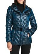 Donna Karan Packable Belted Coat