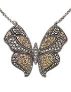 Lord & Taylor Crystal Butterfly Pendant Necklace