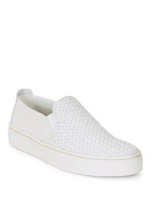The Flexx Sneak Name Woven Leather Slip-on Sneakers