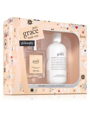 Philosophy Pure Grace Nude Rose Two-piece Holiday Set