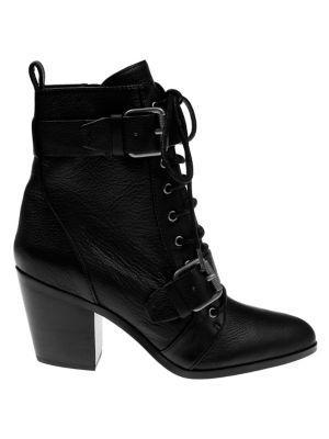 Splendid Carleton Buckle Leather Booties