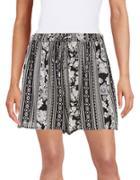 Buffalo David Bitton Stripe And Rose Print Shorts
