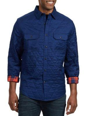 Nautica Classic Fit Quilted Plaid Twill Shirt
