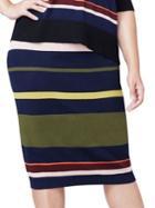 Rachel Rachel Roy Plus Striped Pencil Skirt