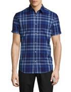 Calvin Klein Cotton Plaid Shirt