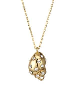 Kate Spade New York Under The Sea Mini Goldplated And Pave Crystal Shell Pendant Necklace