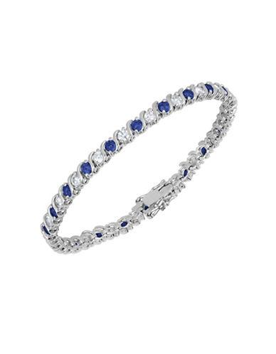 Lord & Taylor Sapphire And Sterling Silver Line Bracelet