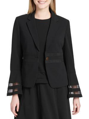 Calvin Klein Bell-sleeve One-button Jacket