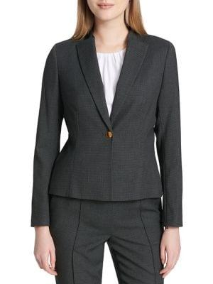 Calvin Klein Pindot One-button Jacket