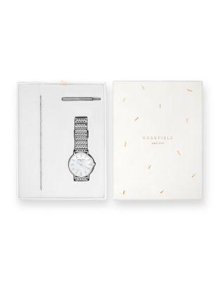 Rosefield Upper East Side And The Downtown Bracelet And Stainless Steel Bracelet Watch Holiday Set
