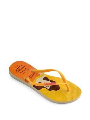 Havaianas Belle Princess Rubber Flip Flops