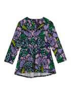 Melissa Mccarthy Seven7 Floral Roundneck Long-sleeve Top