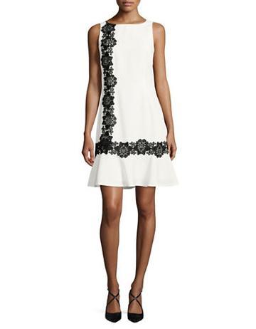 Karl Lagerfeld Paris Lace-trimmed Sheath Dress - Vogue 125 Rose Collection
