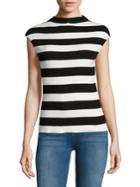 Calvin Klein Striped Mockneck Top