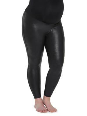 Spanx Plus Mama Faux Leather Leggings