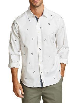 Nautica Anchor Printed Button-down Shirt
