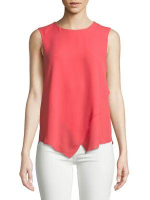 Ivanka Trump Sleeveless Asymmetrical Hem Top