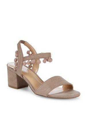 Lexi And Abbie Fez Pom-poms Sandals