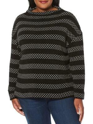 Rafaella Plus Plus Plus Chenille Striped Pullover