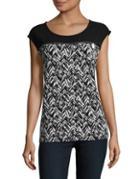 Calvin Klein Printed Knit Top