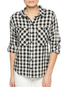 Sanctuary Linen-blend Checked Shirt