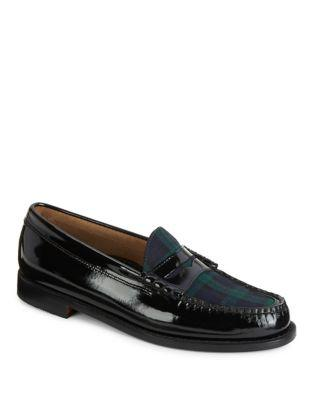 G.h. Bass Weejuns Leather And Wool Penny Loafers