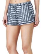 Kensie Striped Drawstring Shorts