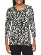 Rafaella Printed Roundneck Top