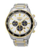 Seiko Stainless Steel Solar Bracelet Chronograph Watch
