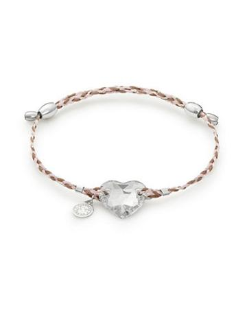 Alex And Ani Sterling Silver Crystal Infusion Heart Bracelet