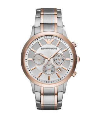 Emporio Armani Stainless Steel Chronograph Bracelet Watch
