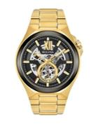 Bulova Round Goldtone Stainless Steel Bracelet Watch