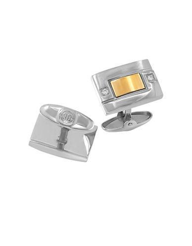 Dolan Bullock Diamond, 18k Yellow Gold And Stainless Steel Cufflinks
