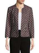 Nipon Boutique Vintage Print Collarless Blazer