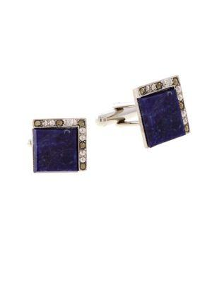 Lord Taylor Blue Sodalite Square Cufflinks