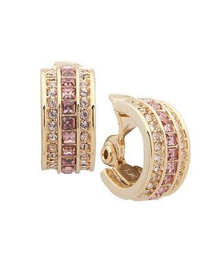 Lauren Ralph Lauren Goldtone Clip-on Hoop Earrings