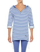 Marc New York Performance Striped Hooded Pullover