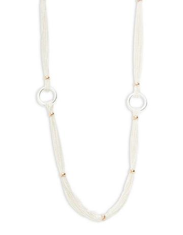Lauren Ralph Lauren Stereo Hearts Chain And Ring Rope Necklace