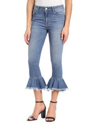 Mavi Tessa High-rise Brushed Flare Jeans