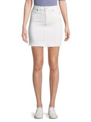 Paige Elaina Denim Mini Skirt