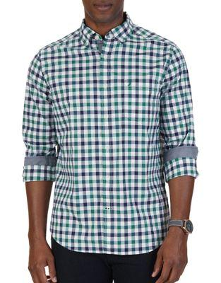 Nautica Tattersall Stretch Casual Button-down Shirt